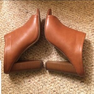 Mossimo Brown Heeled Mules.